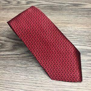 Jones New York NWT Red Basketweave Tie
